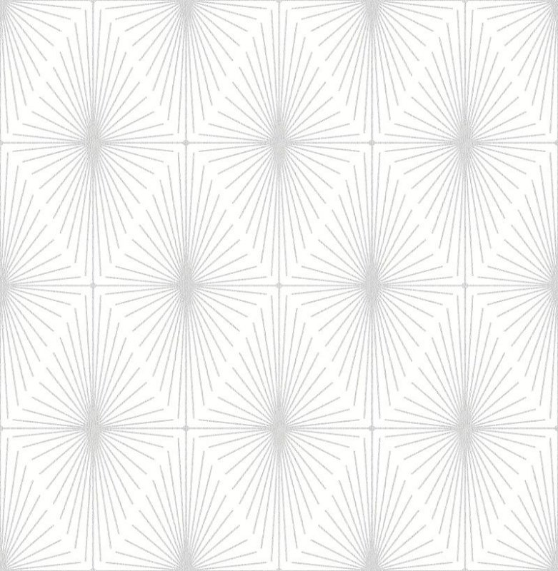 Papel De Parede Twist 10x0.52m Geometrico fundo Cinza Medio