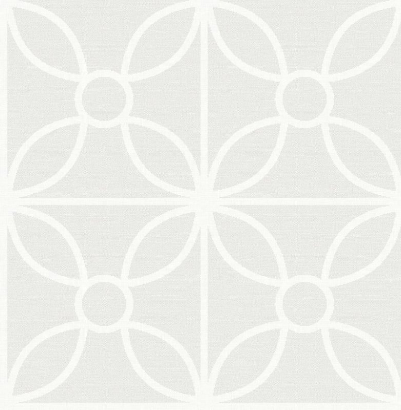 Papel De Parede Twist 10x0.52m Geometrico Cinza Claro Com Fundo Branco