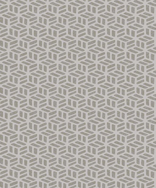 Papel De Parede Rumba 10x0.53m Geometrico Bege/Areia