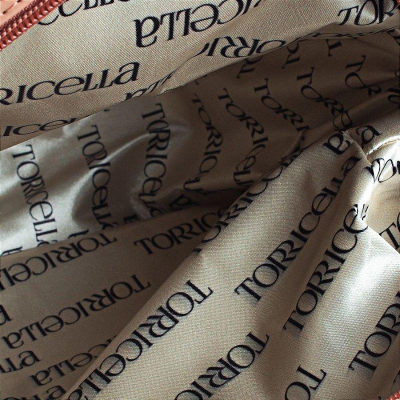 Bolsa Mochila Texturizada em Escamas Bege