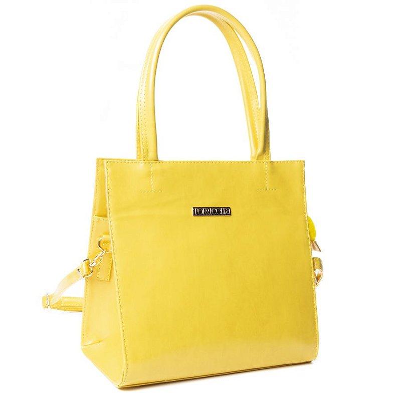 Bolsa shopper Amarelo Liso
