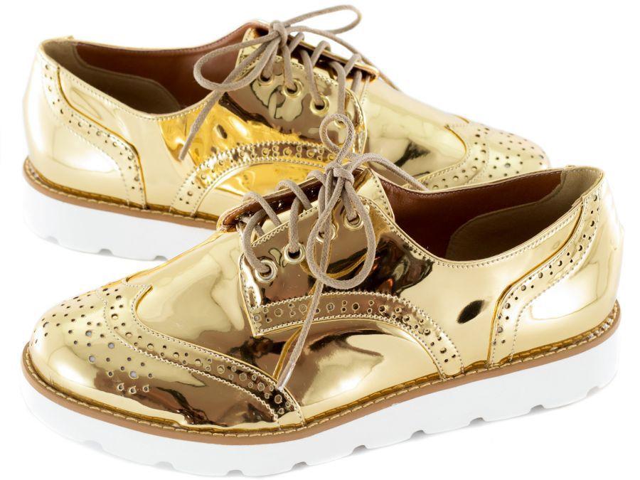 Sapato Oxford Dourado