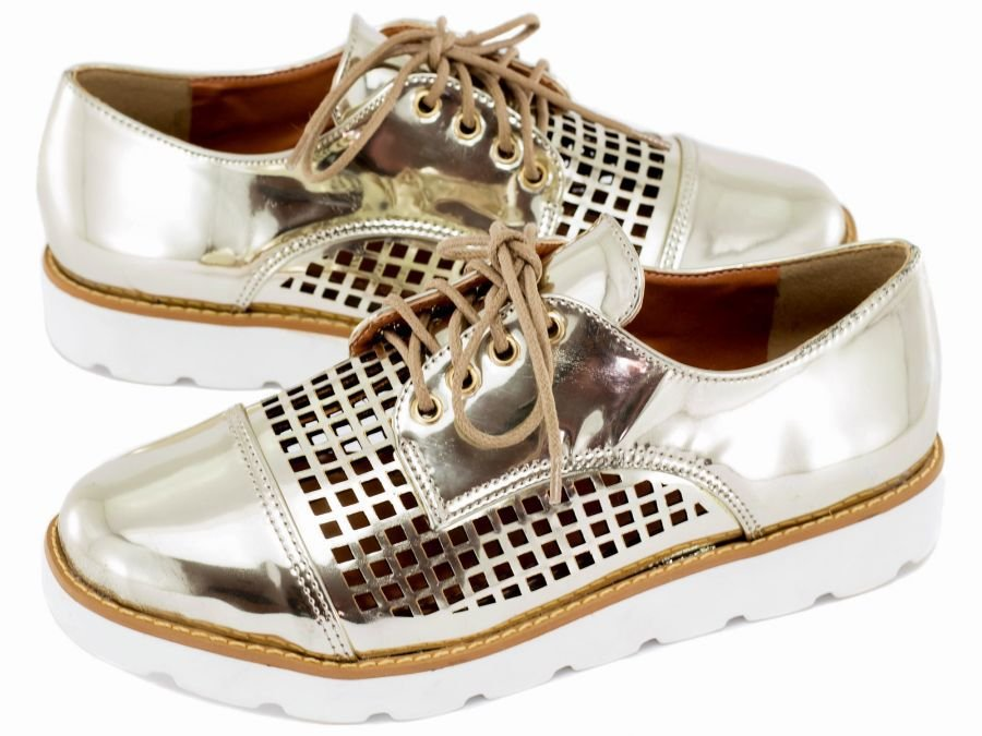 Sapato Oxford Ouro Light