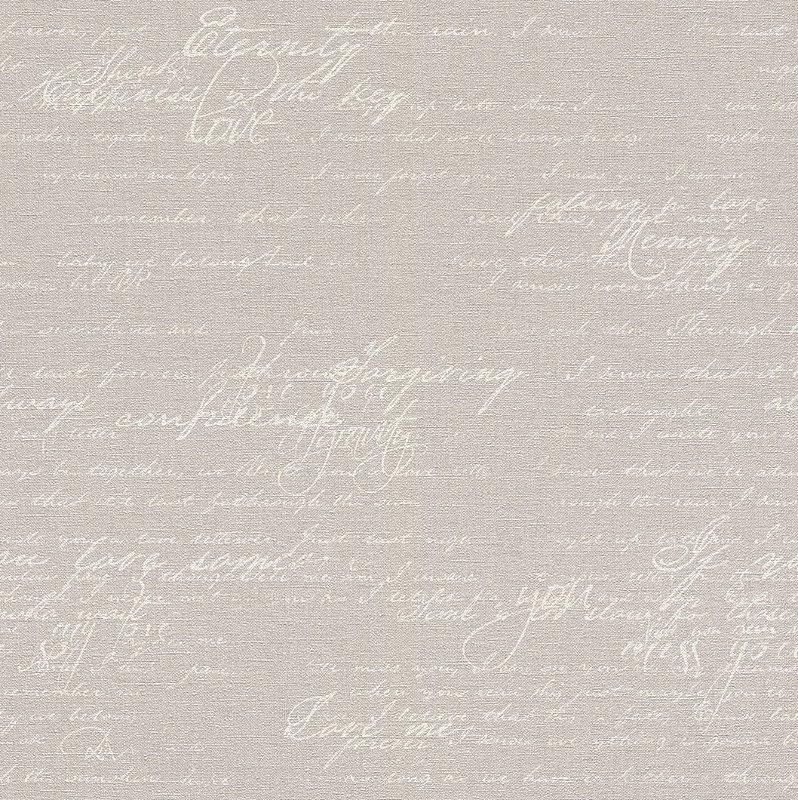 Papel De Parede Grace 10x0.53m Lettering Branco/Cinza