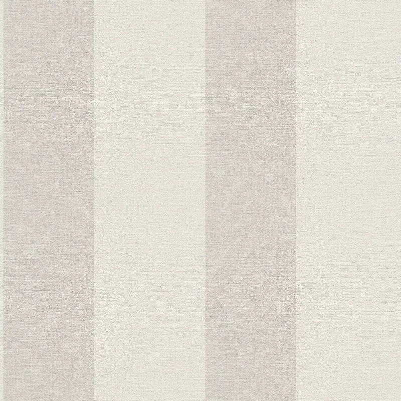 Papel De Parede Grace 10x0.53m Listra Branco/Cinza