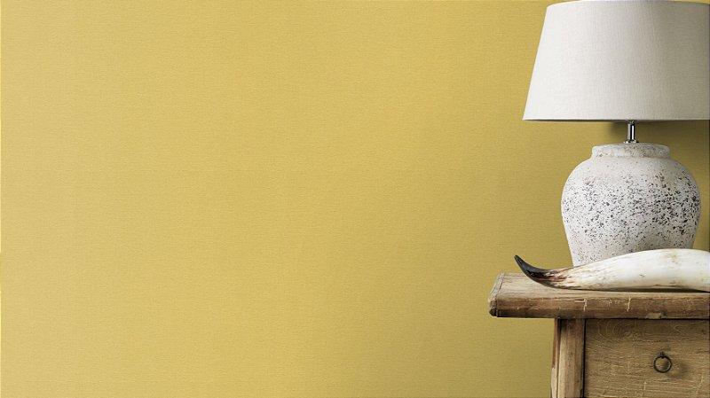 Papel De Parede Grace 10x0.53m Liso Amarelo Cítrico