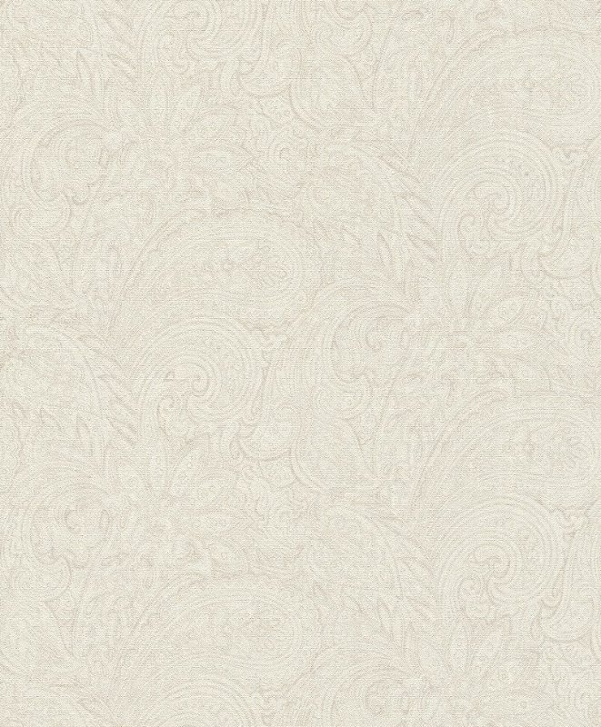 Papel De Parede Grace 10x0.53m Arabesco Branco/Bege