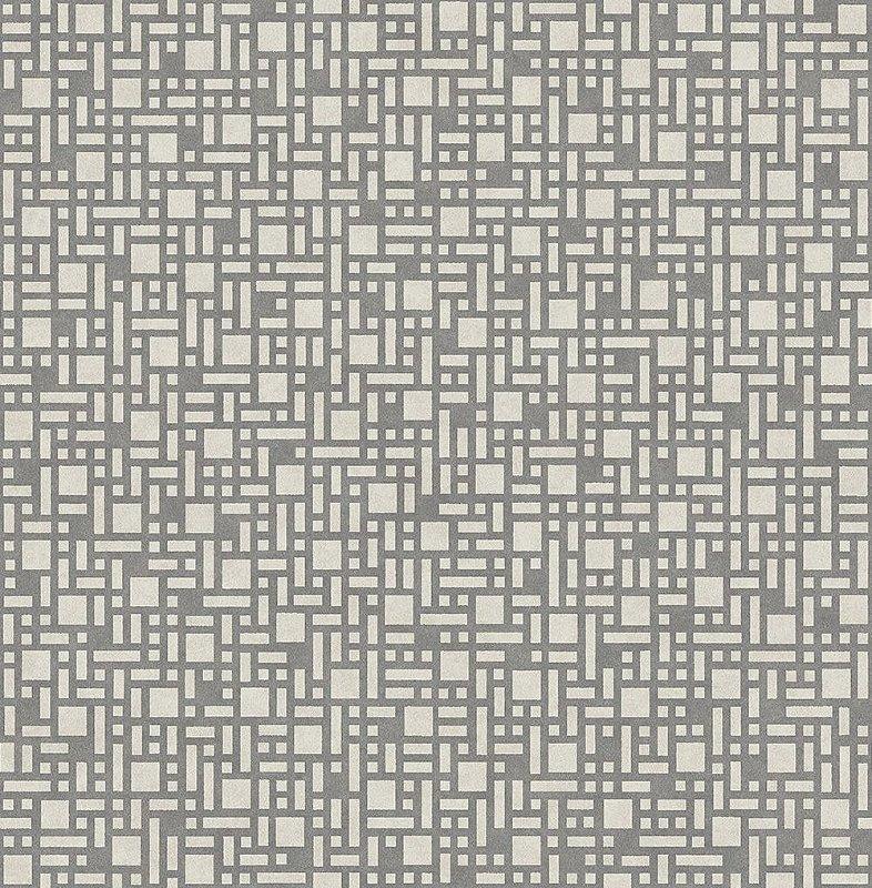 Papel De Parede Energy 10x0.52m Retangulos Cinza
