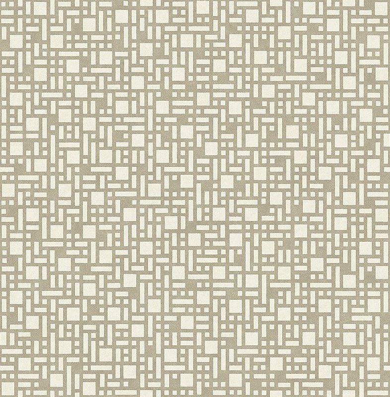 Papel De Parede Energy 10x0.52m Retangulos Bege/Marrom