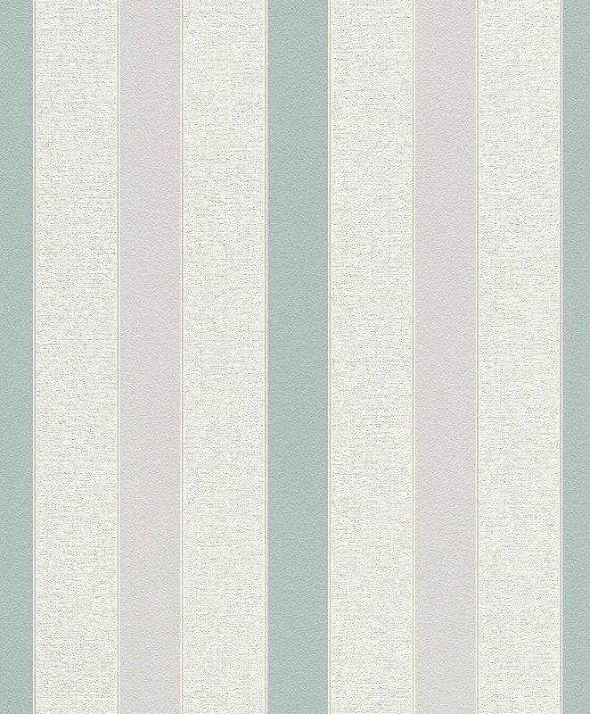Papel De Parede Joy 10x0.53m Listra Branco/Verde