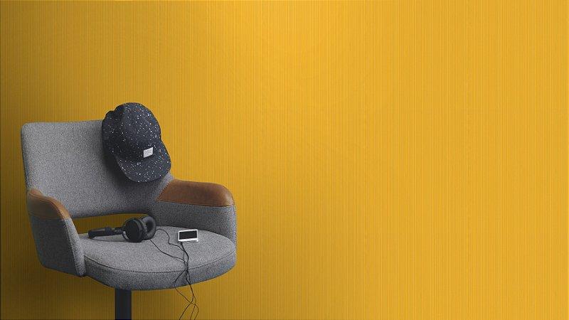 Papel De Parede Joy 10x0.53m Texturizado Listra Amarelo