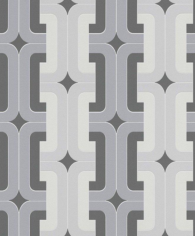 Papel De Parede Joy 10x0.53m Geometrico Cinza/Grafite