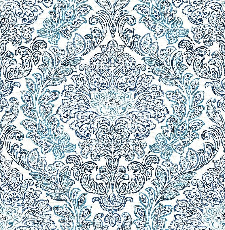 Papel De Parede Freedom 10x0.52m Ornamentos Azul