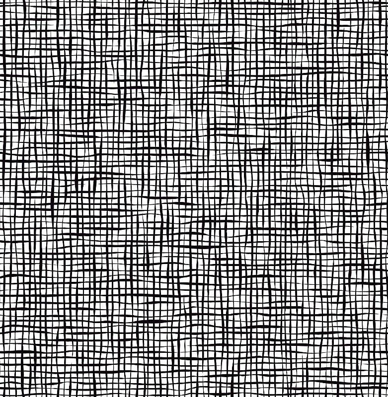 Papel De Parede Freedom 10x0.52m Quadriculado Organico Preto