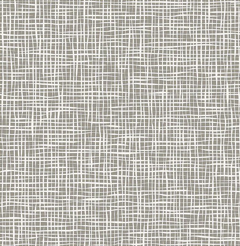 Papel De Parede Freedom 10x0.52m Quadriculado Organico Cinza