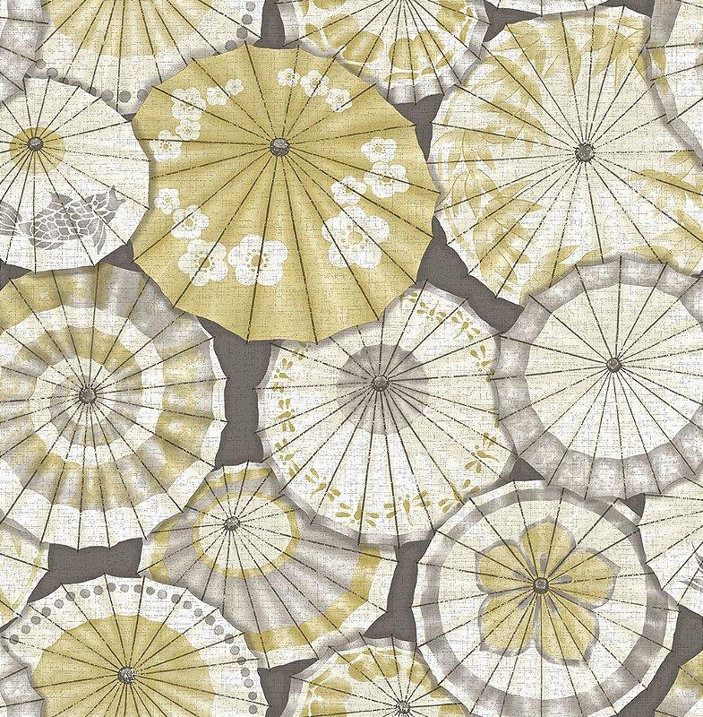 Papel De Parede Freedom 10x0.52m Guarda-Sol Amarelo