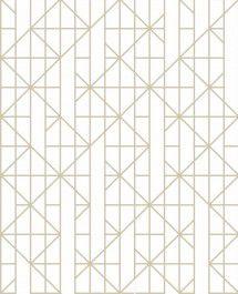 Papel De Parede Pop 10x0.52m Geometrico Ouro/Branco