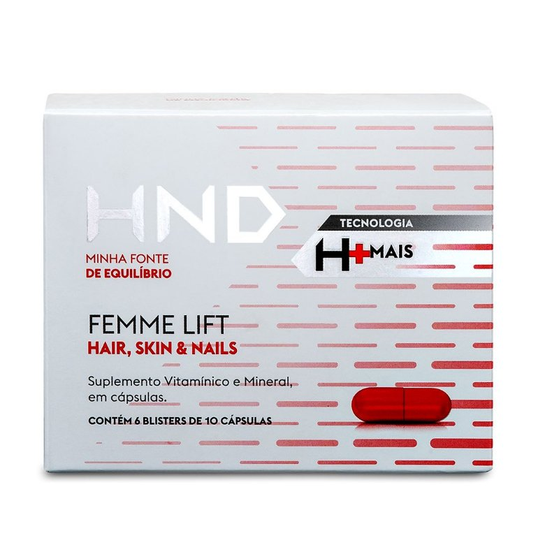 HND FEMME LIFT HAIR, SKIN & NAILS - 60 cápsulas
