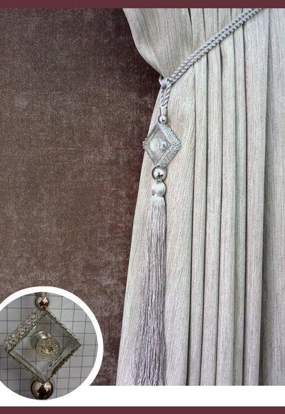 Abraçadeira p/ Cortina Pingente Luba Cristal 107