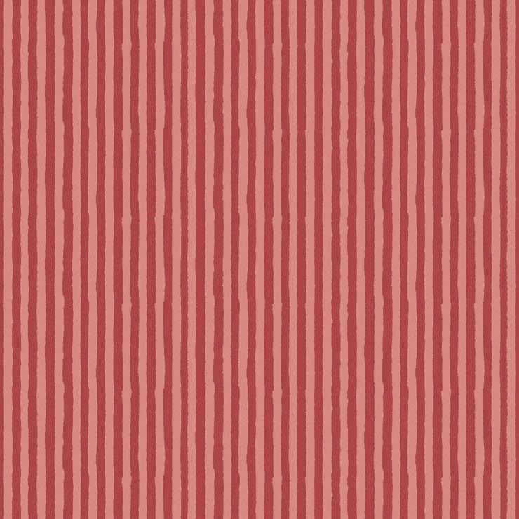 Papel De Parede Infantário Listras VermelhaS 1749