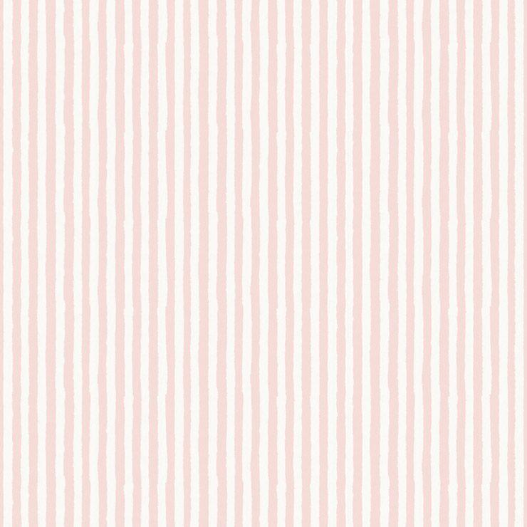 Papel De Parede Infantário Listras Rosa e Branca 1753