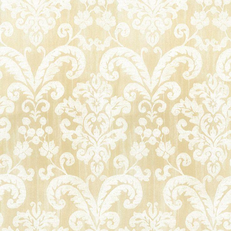 Papel De Parede Classique Floral Bege Manchado 2846