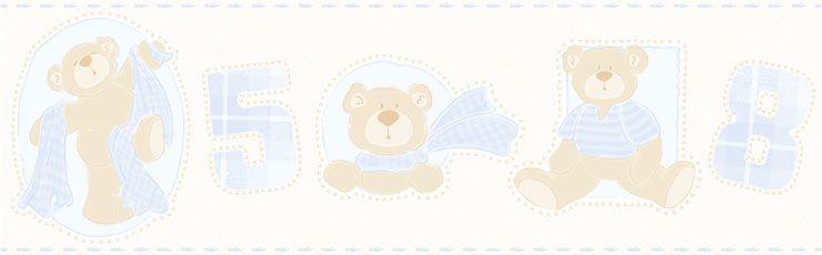 Papel De Parede Bambino's Ursos Azul Claro 3208