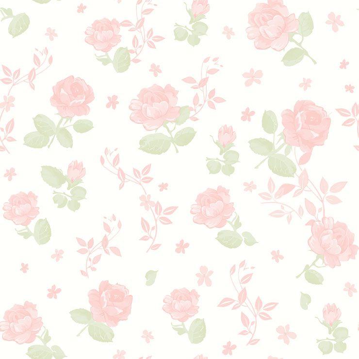 Papel De Parede Bambino's Floral Rosa Grande 3361