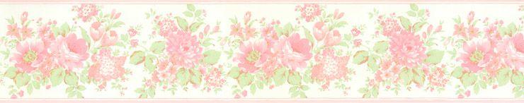 Papel De Parede Bambino's Faixa Floral Rosas 5523