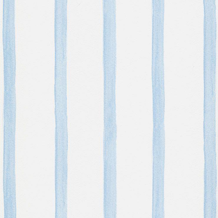Papel De Parede Bambino's Branco com Listras Azuis 5030