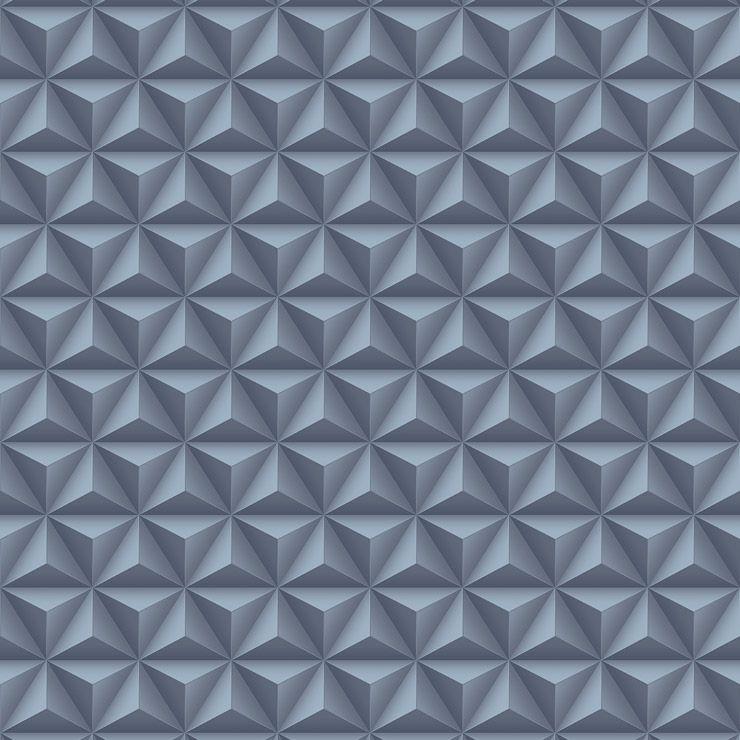 Papel De Parede Diplomata Geometrico 3D Azul Marinho 3152