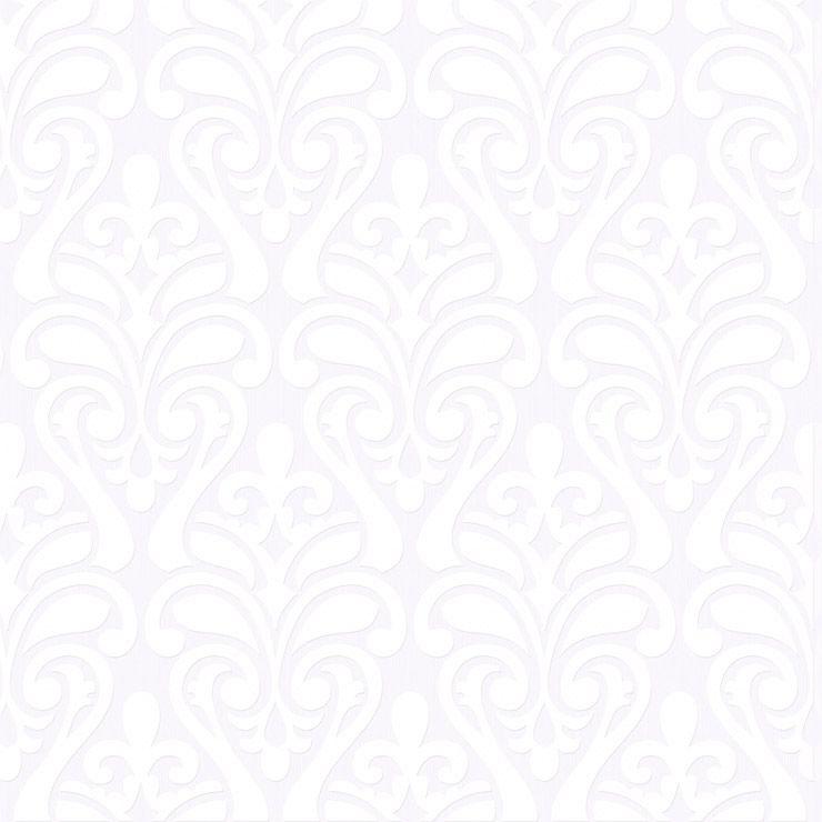 Papel De Parede Relevos Arabesco Sapo branco 3408