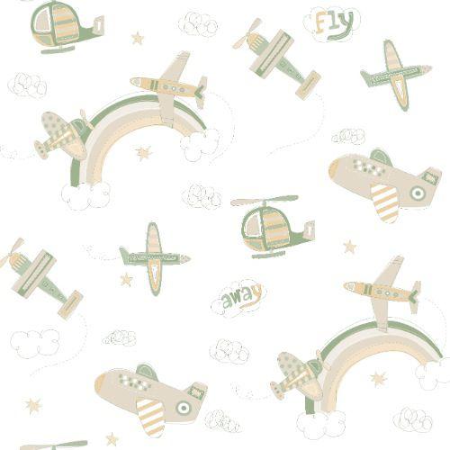 Papel De Parede Bambino's Aviação 3312