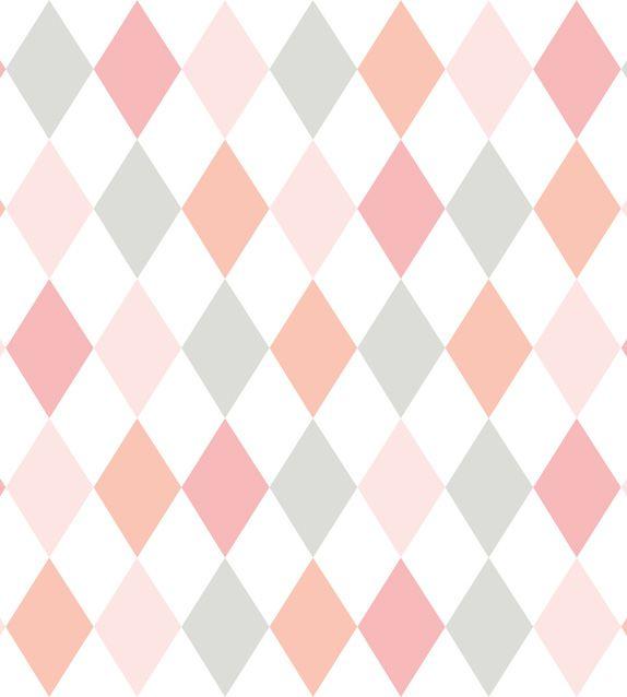 Papel De Parede Renascer Geometrico Rosa e Azul 6243