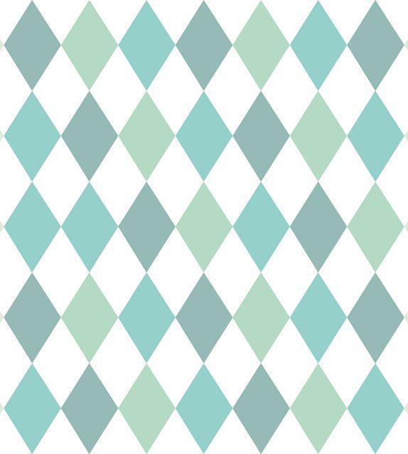 Papel De Parede Renascer Geometrico Degradê Verde 6244