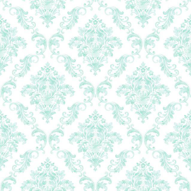 Papel De Parede Renascer Arabesco Azul 6250