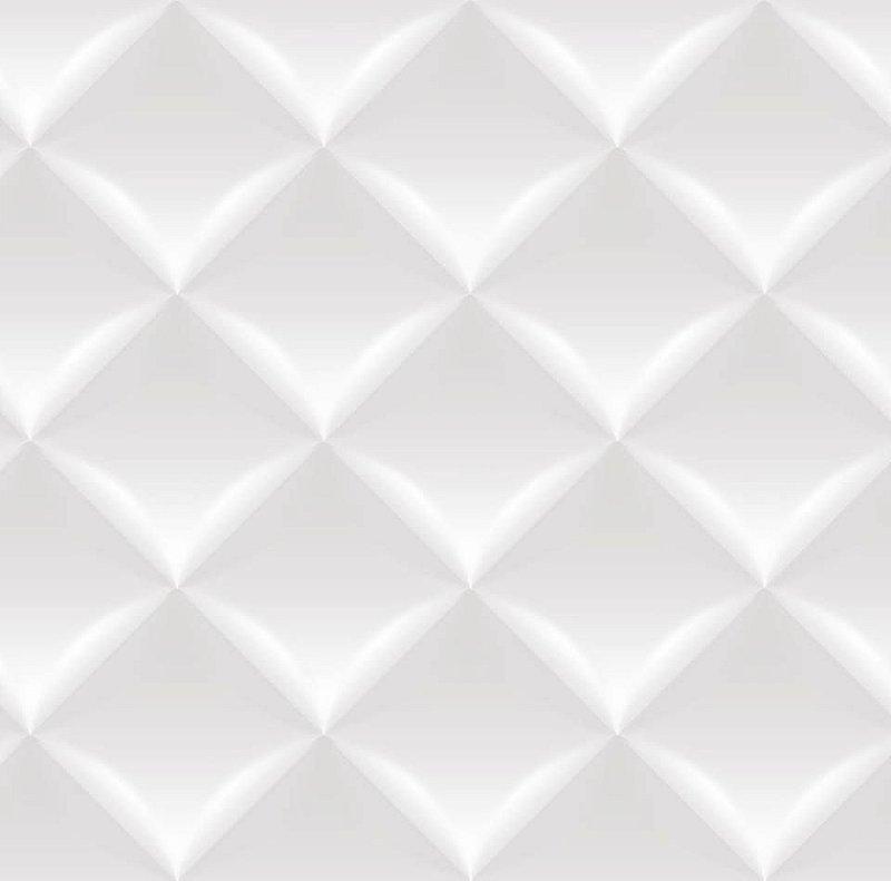 Papel De Parede Dimensões 3D Branco 0003