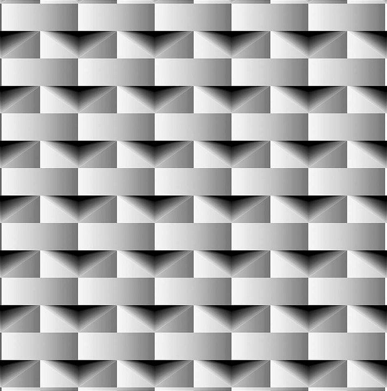 Papel De Parede Dimensões 3D Cinza 0004