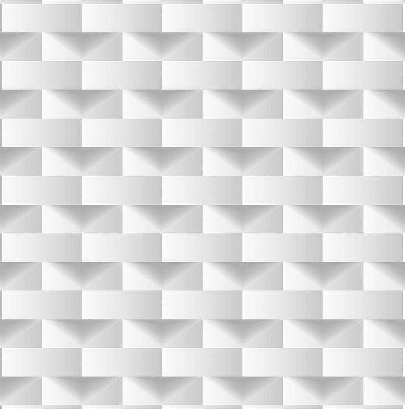 Papel De Parede Dimensões Geometrico Branco 0010