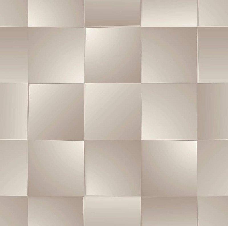 Papel De Parede Dimensões Quadriculado Bege 0017