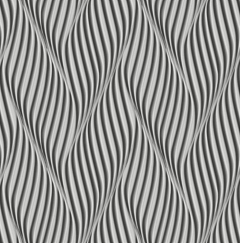 Papel De Parede Dimensões Ondulado Grafite 0019