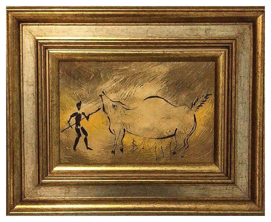 Quadro Pintura Artística  03 - Álvaro Borges Filho Acrílica sobre tela 39 X 49 Caça c/ moldura