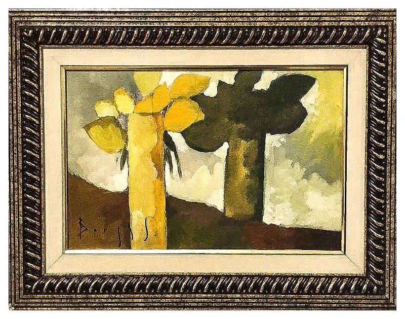 Quadro Pintura Artística  01 - Álvaro Borges Filho acrílica sobre tela 32 X 42 Vasos com flores c/ moldura