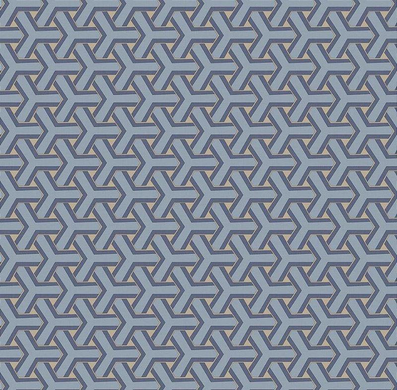 Papel De Parede Diplomata Geometrico Azul 1122-33