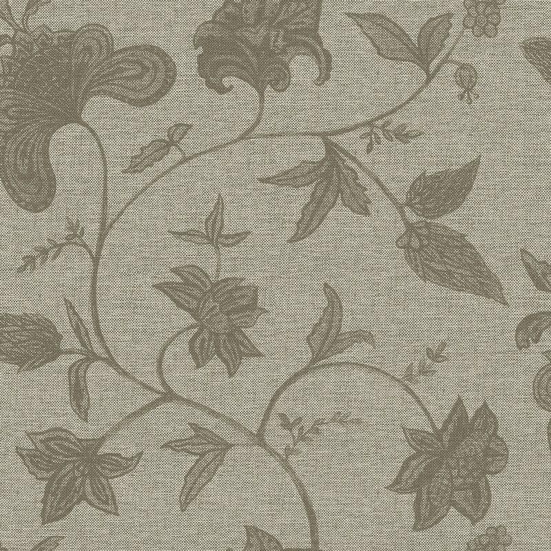 Papel De Parede Natural Flores e Ramos Marrom 1403