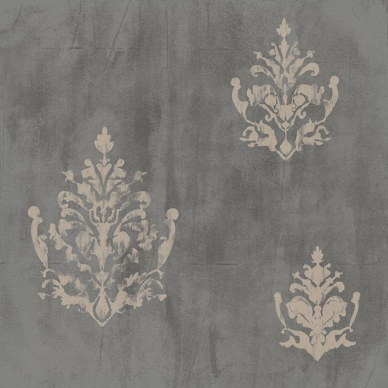 Papel De Parede Natural arabesco Cinza 1433