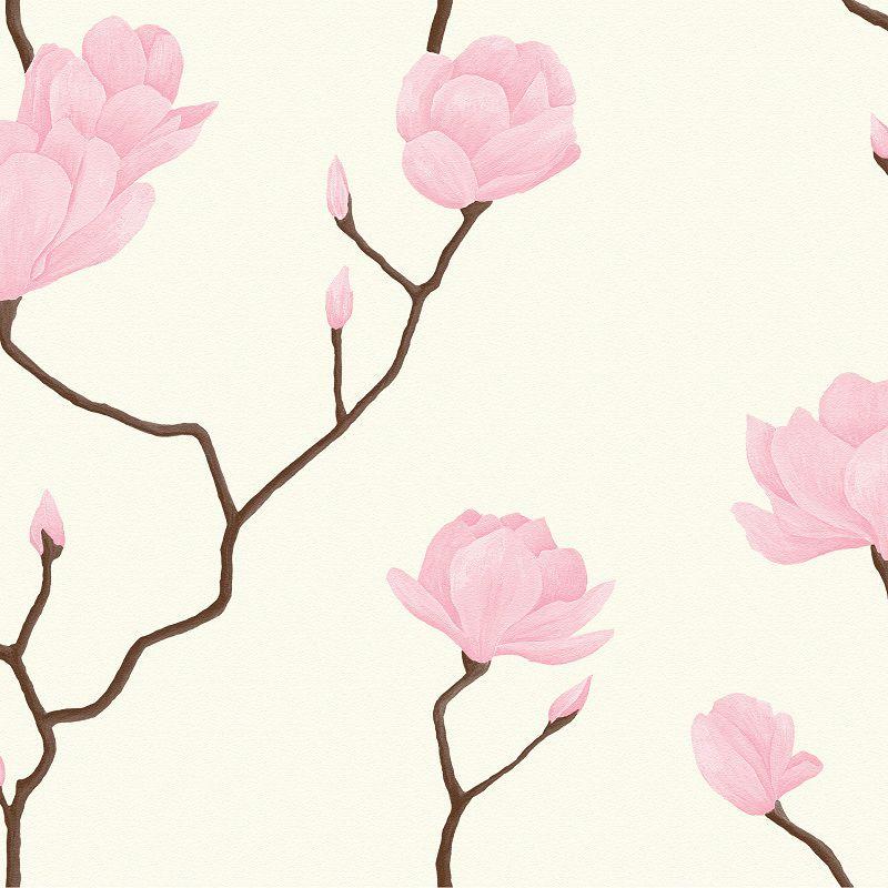 Papel De Parede Natural Floral Rosa 1446