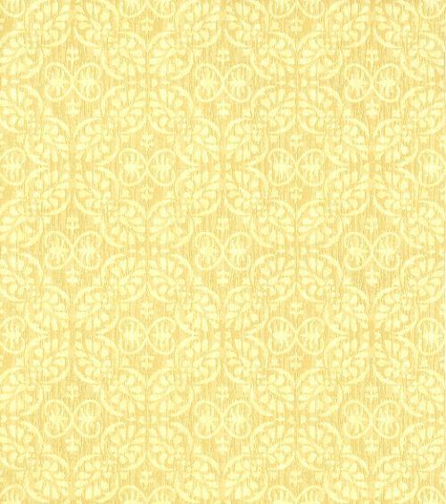 Papel De Parede Classique Arabesco Amarelo Claro 2828