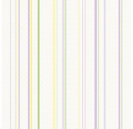 Papel De Parede Infantário Listras Lilás e Verde 1857
