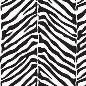 Papel De Parede Galia Vinil 42-1 Zebra Preto Branco